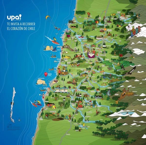 Patricio Roco - Map of Libertador and Maule regions of Chile