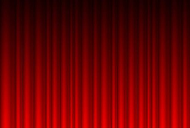 Realistic Red Curtain Background Red Curtains Curtains Vector