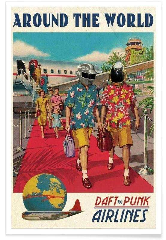Junique Daft Punk Print