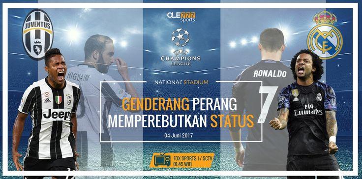 Prediksi Bola Hari Ini - Pertarungan duo kampiun berebut posisi klub terkuat dunia di laga final Liga Champions antara Juventus v Real Madrid (04/06).