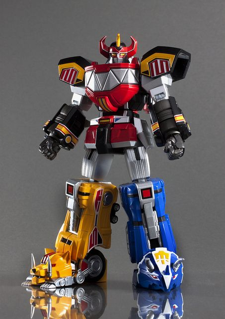 Bandai Tamashii Nations Super Robot Chogokin Megazord Mighty Morphin Power Rangers, via Flickr.