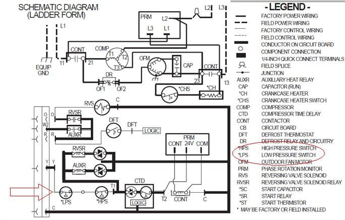 refrigeration pressure switch wiring diagram | Hvac air, Refrigerator, Heat  pumpPinterest