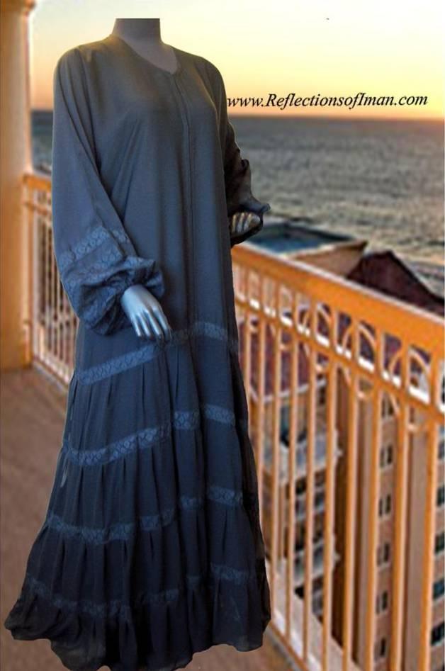 Tiered abaya. Would be good for maternity Abaya.