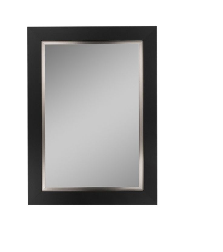 black mirror  https://www.houzz.com/product/66592385-nuevo-black-satin-and-stainless-liner-framed-wall-mirror-49x61-contemporary-wall-mirrors