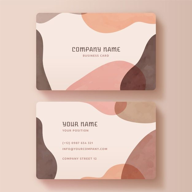 Download Painted Business Card Template For Free In 2020 Business Card Design Simple Business Cards Painted Business Cards