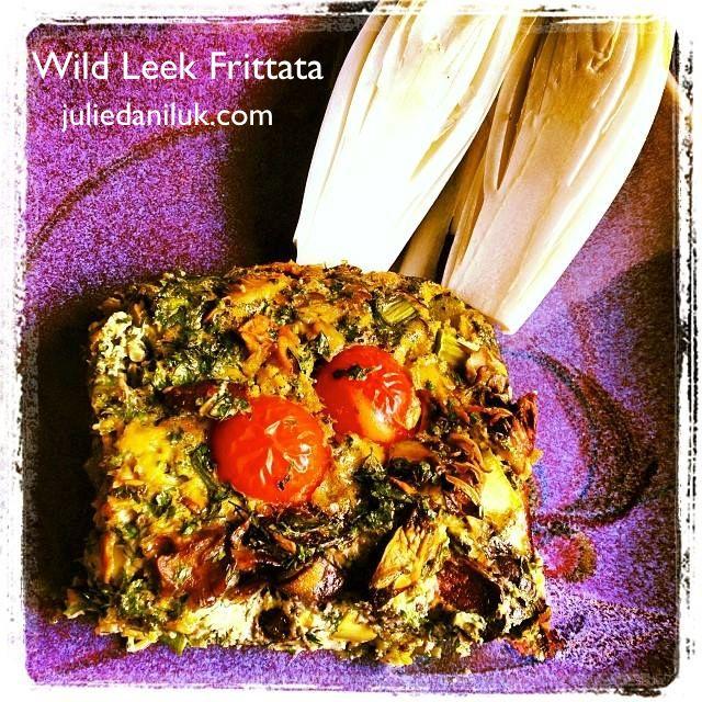 Wild Leek Frittata by Julie Daniluk http://juliedaniluk.com/recipes/wild-leek-frittata.html