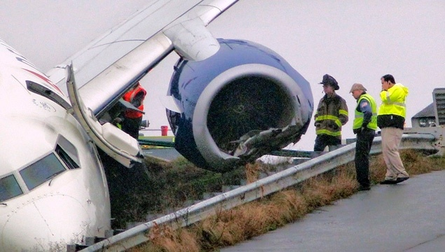 Delta 737 rolls off runway. Who forgot to put on the handbrake?    For more travel news: http://megamondotravel.com