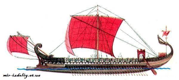Финикийский боевой корабль 10-8 век до Н.Э