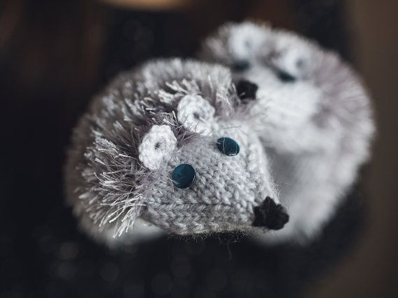 Hedgehog Mittens Animals Gloves Knitted Mittens by NatalieKnit