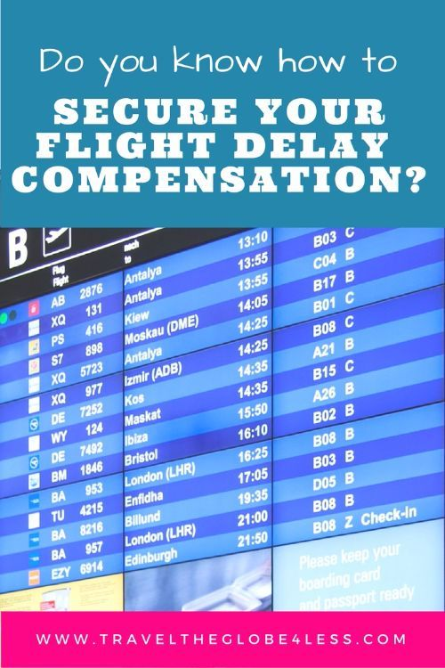 Flight delay compensation Pinterest