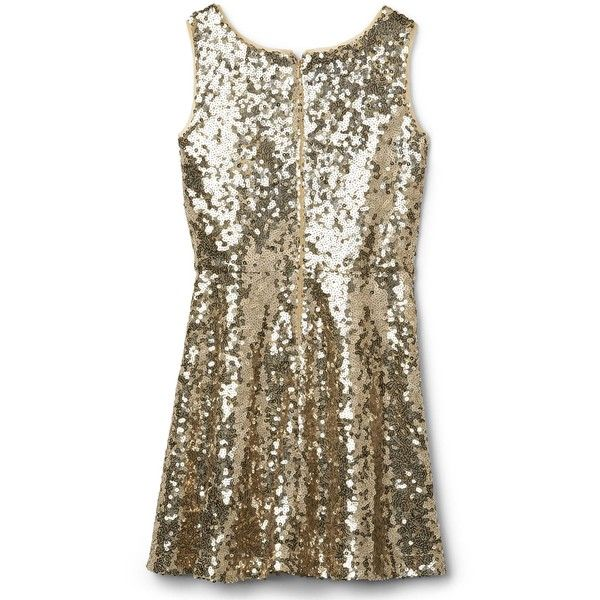 Gold sequin tank dress (€45) ❤ liked on Polyvore featuring dresses, sequin dress, gold sequin cocktail dresses, brown dresses, brown cocktail dress and brown sequin dress