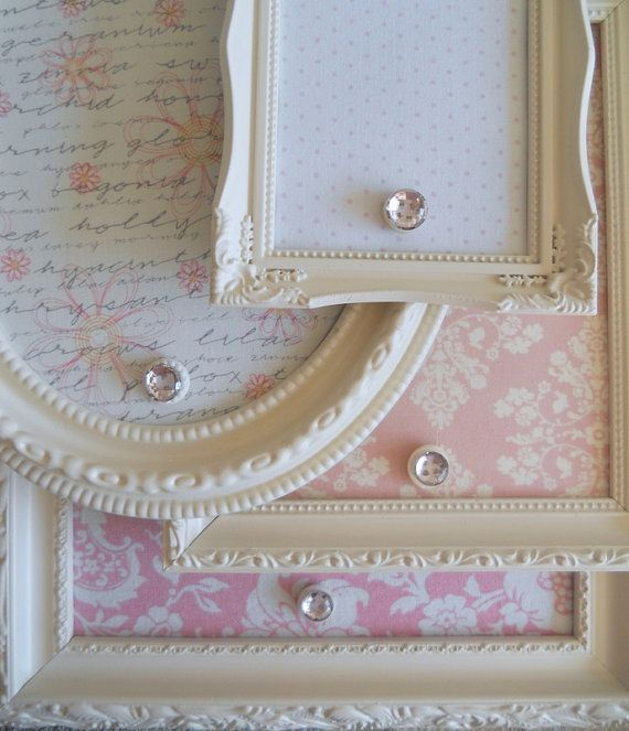 Magnet boards * cut down old cookie sheet with tin snips; cover with scrapbook paper; put into an old, repainted frame