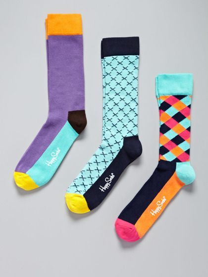 Happy Socks Argyle Socks - love a brave man in these colors!