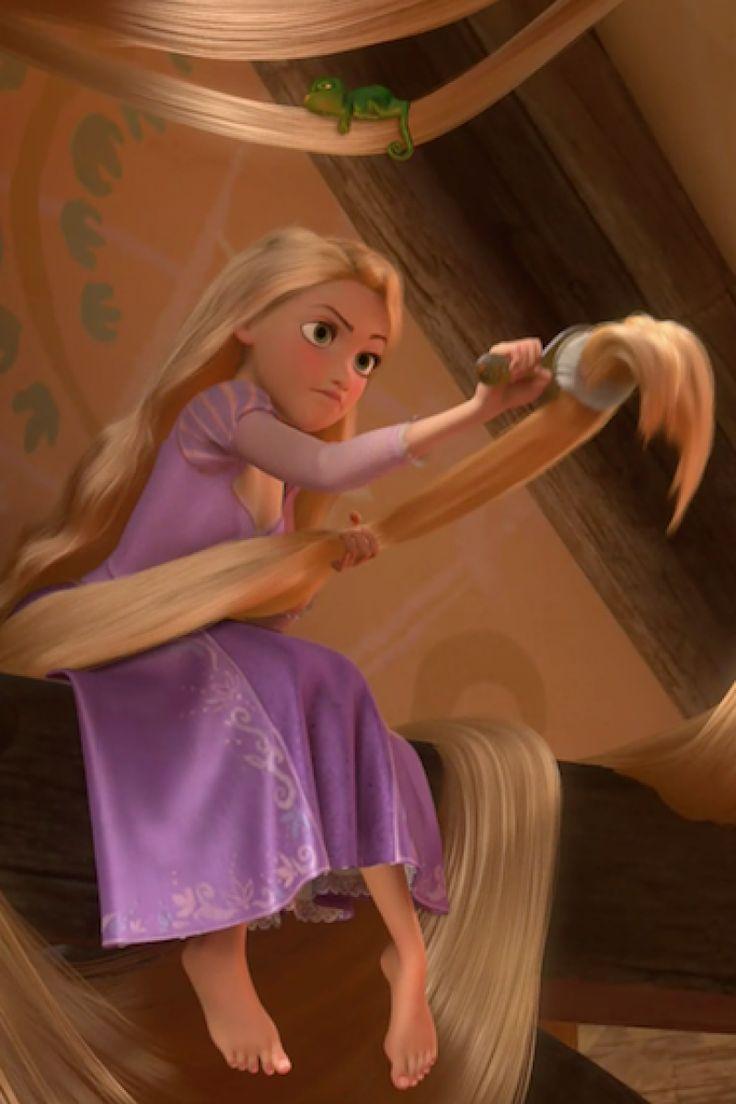 рапунцель связывает волосами картинка изображение красивым аистом