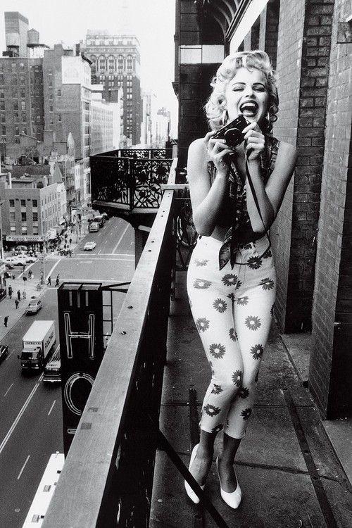 Not Marilyn, but Eva Herzagova at the Chelsea Hotel by Ellen Von Unwerth