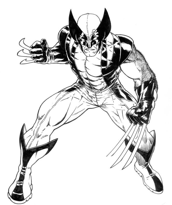 Wolverine Coloring Pages To Print | Superhero coloring ...