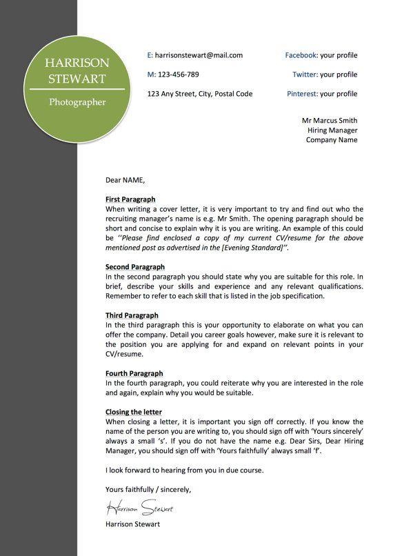 Letterhead Template | Business | Cover Letter | Instant Download | MS Word Compatible