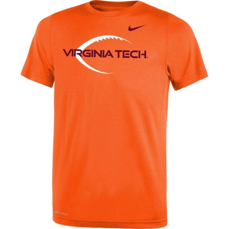 Nike Youth Virginia Tech Hokies Burnt Orange Football Icon Legend T-Shirt, Size: Medium, Team