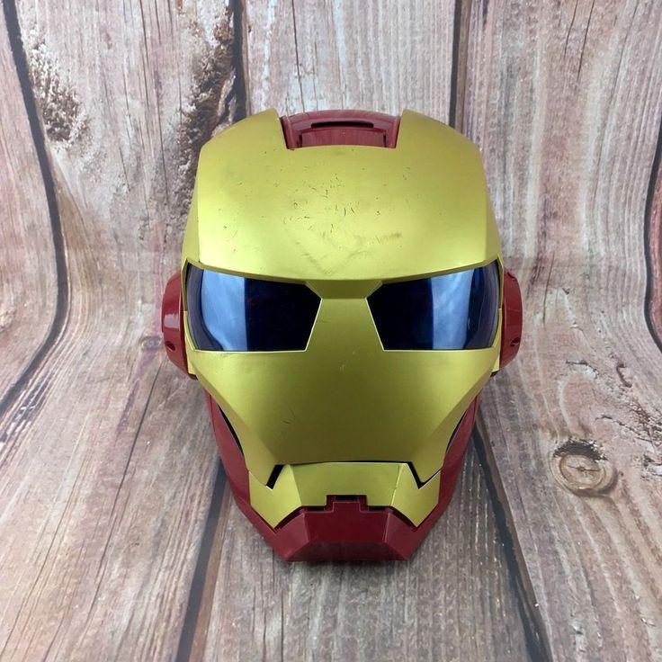 Iron Man deluxe full Helmet mask led lights & sounds fancy dress costumes kids
