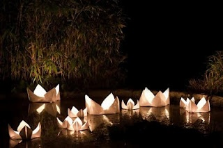 Origami floating on the water?