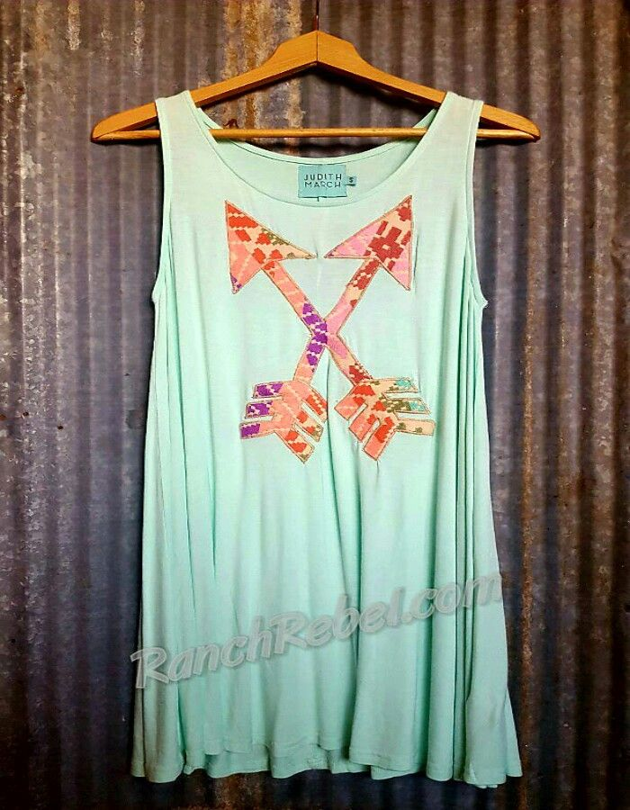 Judith March Mint Arrow Tunic #1372