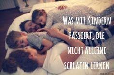 Was mit Kindern passiert, die nicht alleine schlafen lernen #Psychologie #Kinder…