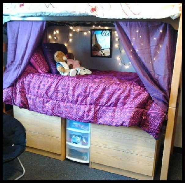 Decorating Your Dorm Room! I Used Curtains As Drapes For My Bottom Bunk For  Some Privacy! And Christmas Lights To Add A Little Glow!if We Did Bunk Beds Part 94