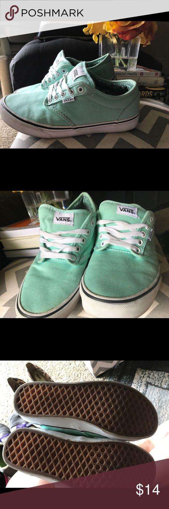 Tiffany blue vans Slightly used Tiffany blue vans Vans Shoes Sneakers