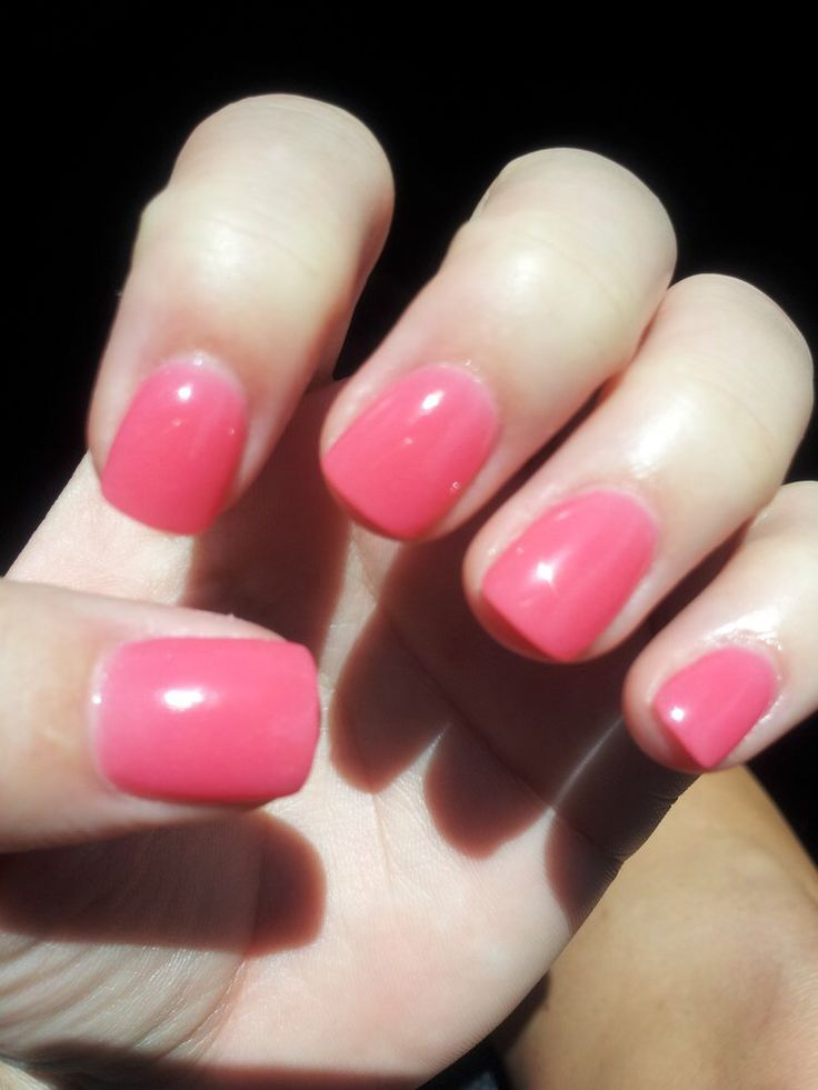 pink nexgen nails . simple and cute