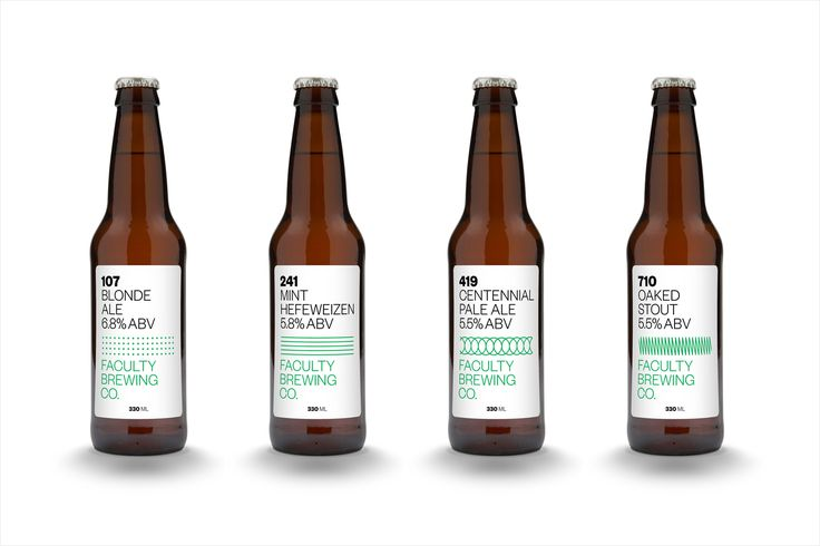 Craft beer branding and packaging by Canadian graphic design studio Post…