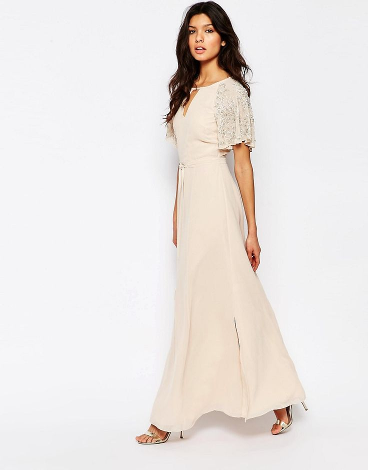sleeve Image 1 of River Island Embellished Sleeve Maxi Dress