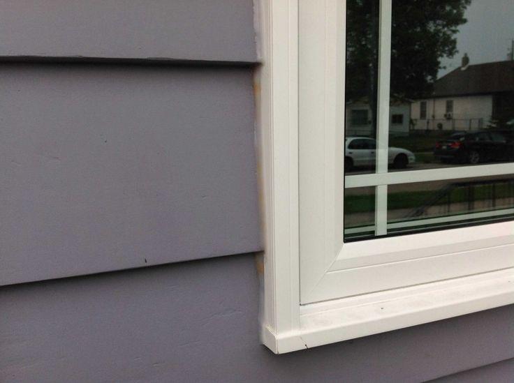 Window Service: Missing Or Leaky Caulking On New Windows. Discoloured  Caulking.