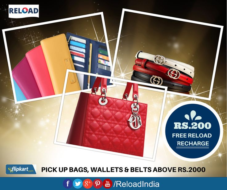 Here's a deal for you all. Shop for regular items like Belts, Bags & wallets above Rs.2000 and get Rs.200 Reload credit.   https://www.reload.in/shop-and-earn-free-mobile-recharge-online