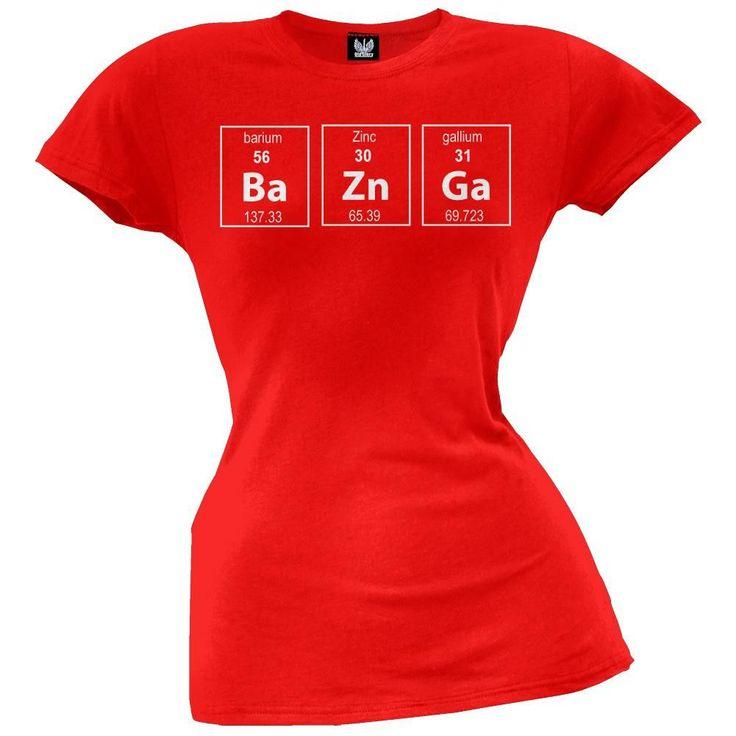 Bazinga Perodic Table Juniors T-Shirt