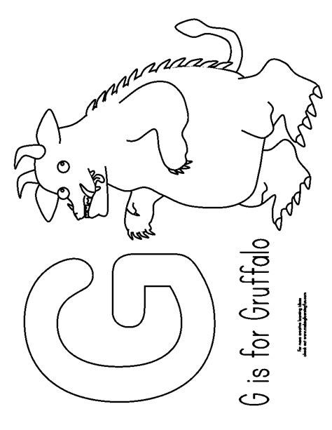 Image result for gruffalo colouring