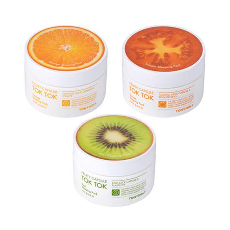 ZANABILI Original Fruity Capsule Tok Tok Sleeping Pack 80g Plant Sleep Mask Gel Cream Face Mask Moisturizing Acne Treatment 1pcs