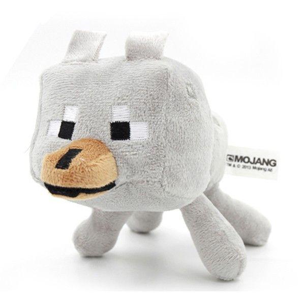 Minecraft Plush Toys Enderman Ocelot Pig Sheep Bat Mooshroom Squid Spider Wolf Animal soft stuffed dolls kids toy gift