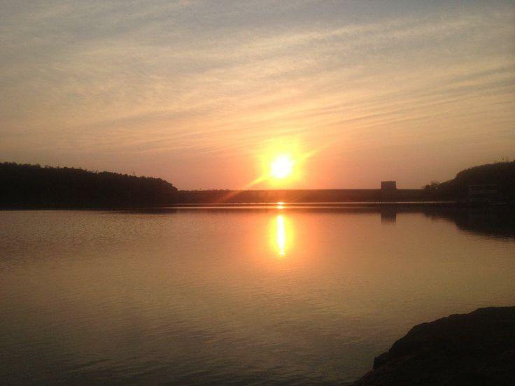 A beautiful sunrise over Lake Jozini