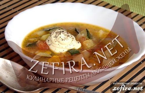 Рецепт супа с кабачками