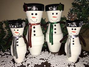A personal favorite from my Etsy shop https://www.etsy.com/listing/493678981/snowmen-mini-snowman-family-planter-pot