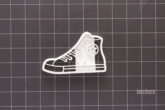 Converse basketball shoe cookie cutter 3d printed BYU Readyshapes