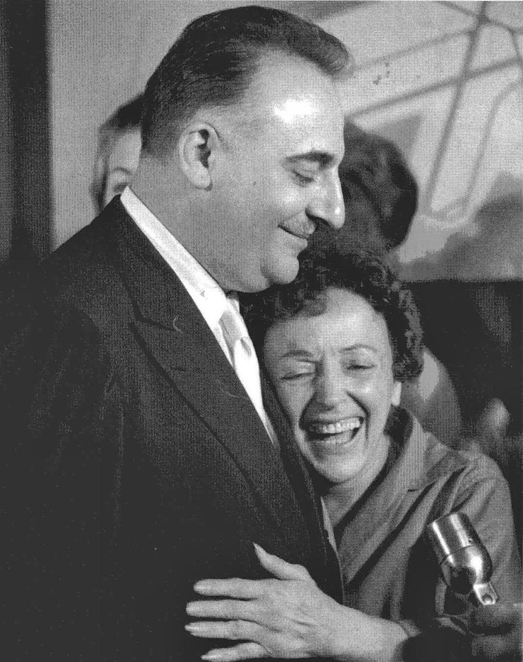 Edith Piaf with Bruno Coquatrix, manager of the Olympia theatre in Paris