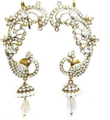 MKJewellers Peacock Ear Cuffs 6960 Brass Cuff Earring