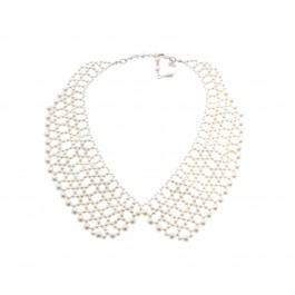 Pearly Peter Pan Collar Necklace.  Add some pearly prettiness to your outfit with this seasons hottest style, the Peter Pan collar. Wear with a silky white blouse and a feminine skirt, perfect for work and play.   $10.00