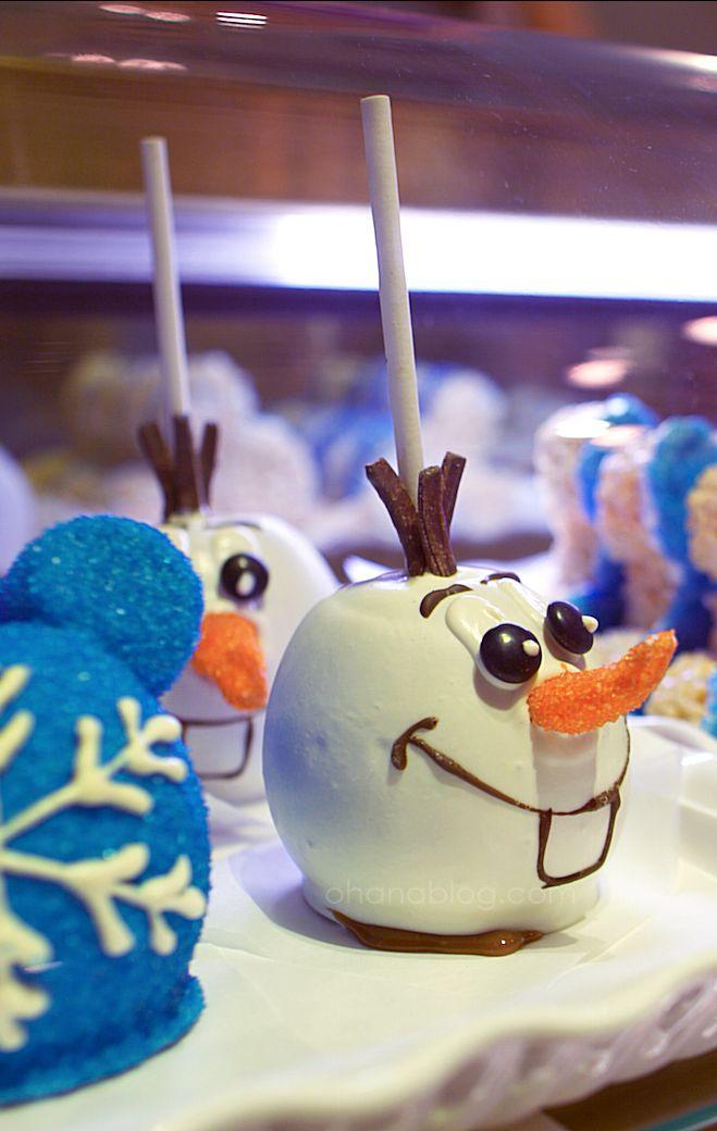 Disneyland // Olaf Candy Apple // Disney Desserts