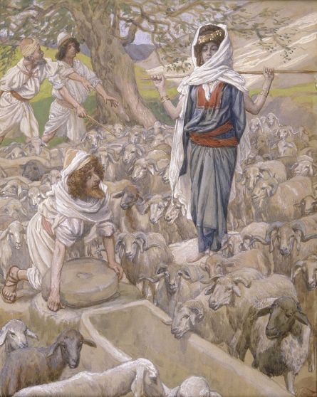 Jacob and Rachel at the Well (watercolor circa 1896–1902 by James Tissot)