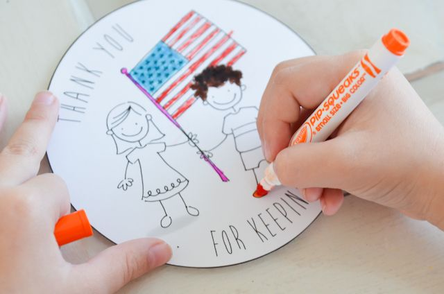 Veterans Day Thank You Card for Kids