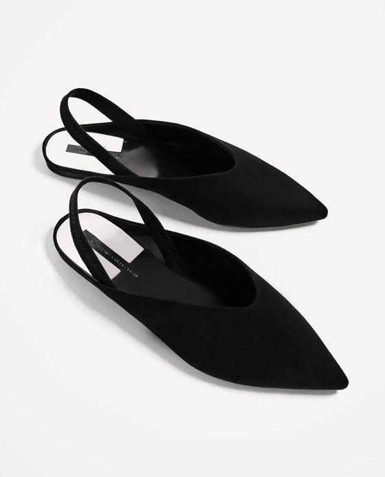 CONTRASTING FLAT SLINGBACK SHOES