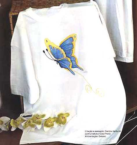 17 melhores imagens sobre borboletas no pinterest - Pinturas para pintar camisetas ...