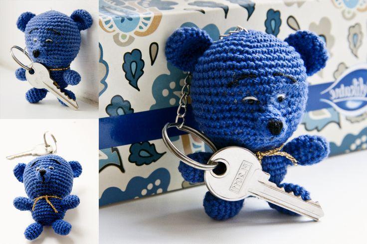 Amigurumi. Key ring. Teddy bear.